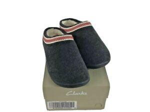 Clarks - Wool Felt Indoor/Outdoor Clog Slippers Charcoal Women's Size US 8M