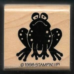 FROG PRINCE Sad Face Garden Amphibian Creek Country Life Stampin Up RUBBER STAMP