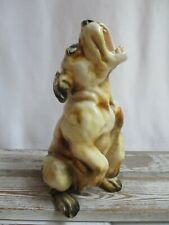 "Vintage Chalkware Detailed Bulldog Puppy Statue 10.5"" Tall"