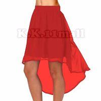Chiffon Asym Skirt Women Lady Girl Jupe High Low Maxi Asymmetrical Boho