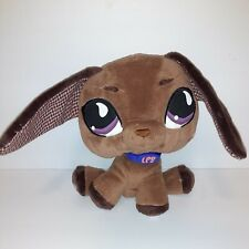 "Littlest Pet Shop Plush Brown DACHSHUND Dog Stuffed Animal 8-1/2"" Tall LPS"