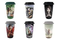 Anne Stokes Ceramic travel mug Tea Coffee Dragon/Angel/Unicorn/Wolf gothic cup