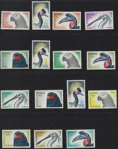 Guinea SC263-274&C41-C43 Beautiful Birds:cronedCrain-Whitespoonbill-Eagle MNH'62