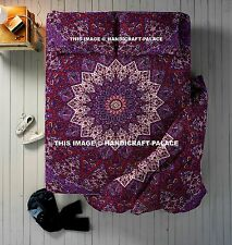 Indian Star Mandala Print Queen Quilt Duvet Cover With Bedspread & Pillow Covers