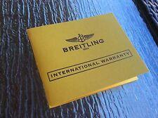 Breitling International Warranty Book