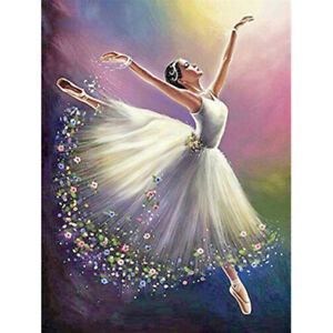DIY 5D Full Drill Diamond Painting Dancer Girl Rhinestone Embroidery Pictures