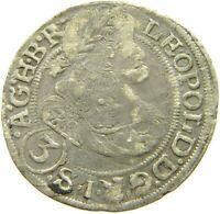 AUSTRIA 3 KREUZER 1670 LEOPOLD #s2 305