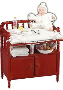 Changing Table for Baby +Accessories Reutter Porcelain 1:12 Scale US SHIPPER