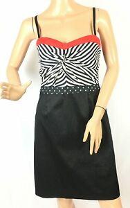 Sandro Ferrone Women's Dress Black Chiffon Stripe Size 44 Italy