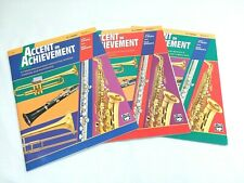 Accent On Achievement Clarinet Music Books - Series Of 3 - Pre-owned