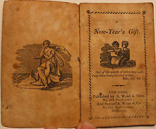 Original Early 1800s New Years Gift Bible ABC Chapbook