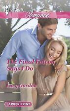 The Final Falcon Says I Do (Harlequin RomanceThe Falcon Dynasty)-ExLibrary