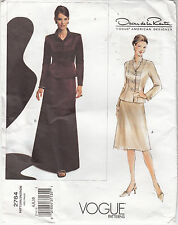 Vogue Oscar de La Renta Misses Jacket Skirt 2 Lengths Sewing Pattern 2764 Uncut