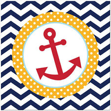 Ahoy Matey Baby Shower Birthday Party Supplies Large Lunch Napkins