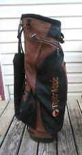 Taylor Made Find Your Game Copper & Black Cart Golf Bag 9 Zippers Nice
