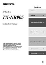 Onkyo TX-NR905 Tuner Owners Manual