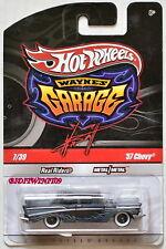 HOT WHEELS WAYNE'S GARAGE #7/39 '57 CHEVY BLACK