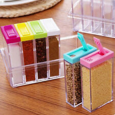 6in1 Spice Container Jar Condiment Dispenser Salt Seasoning Box for Kitchen CCE1