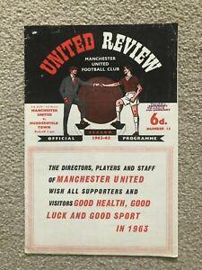 1962/3 MANCHESTER UNITED V HUDDERSFIELD TOWN (FAC 3) TOKEN INTACT