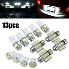 13PCS Car White LED Light Interior Package T10 Festoon Map Dome License Plate