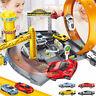 Kids Catapult Parking Lot Garage Playset DIY Racing Track Cars Toys Xmas Gifts