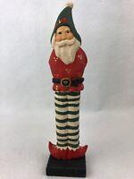 James Haddon Elf Santa's Helper Wood Hand Carved Painted Folk Art Philippines