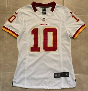 Robert Griffin III 10 Redskins Nike White NFL Womens Jersey NEW NO TAG M Medium