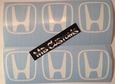 "Honda Center Cap Logo 2"" (1) color= 6 stickers - civic crz crv fit"