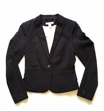 H&M Blazer Jacket 4 S Small Black Work Career Outfit Suit Women's