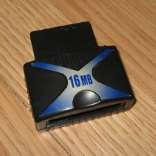 EMS Black & Blue 16MB Expansion Memory Card Only For PlayStation PS2 **READ**