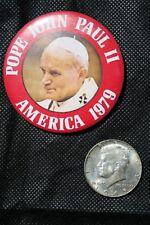 Pope John Paul II 1979 US Visit button