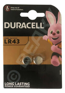 LR43 AG12 186 L1142 Alkaline Battery 1.5v ORIGINAL DURACELL BRAND [VALUE 2-Pack]