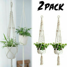 2 Pack Macrame Plant Holder Indoor Flower Pot Plant Hanger 41'' Planter Basket