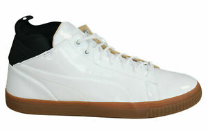 Puma Play Nude Mens Trainers Lace Up Mid Shoes Patent Leather 361469 02 D3