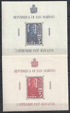 San Marino stamps 1938 YV Bloc 2+3  MNH  VF