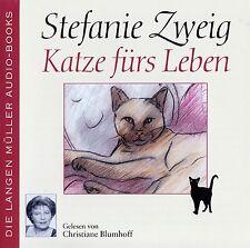 STEFANIE ZWEIG : KATZE FÜRS LEBEN / 4 CD-SET (HÖRBUCH) - TOP-ZUSTAND