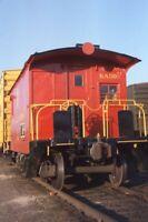 D&H Delaware and Hudson Railroad Train Caboose FT EDWARD Original Photo Slide