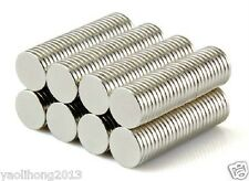 "100PCS  3/8"" x 1/16"" Neodymium Magnets Round Disc Bottle Cap Magnet Fridge N50"
