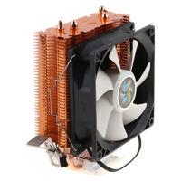 2 Pipes 3-Pin CPU Cooler Heatsink Fan for Intel 775/1150/1151/1155/1156/1366