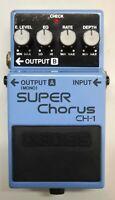 BOSS CH-1 SUPER Chorus Guitar Effects Pedal 1997 #46 Pink Label Analog Circuit