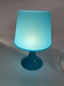 Light Blue Turquoise Lampan IKEA Table Desk LED Lamp College Dorm Retro Look