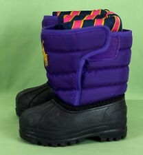 62a6f962f 405 POLO RALPH girls LAUREN SNOW BOOTS purple - TODDLER baby SIZE 4 EUC