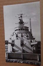 Postcard London HMS Belfast British Cruiser WW2 real photo unposted  XC4
