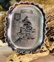 Celtic Quality Plate - Made In England - Tray Plate England Map R