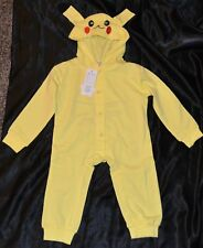 Pikachu Pokemon Halloween Costumes Fits Child Kids Size Babies 6-7-8-9 M Months