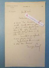 ♦ L.A.S Denys PUECH Sculpteur Villa Medici Académie France à Rome lettre Rodez
