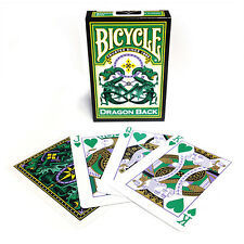 Green Dragon Back Bicycle Playing Cards - Green Pip Bicycle Deck - Magic Cards