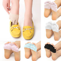 Women's Toe Separator Invisible Cotton Breathable Non Slip Forefoot Socks 1Pair