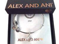 Alex and Ani April Bangle Bracelet Color Code Shiny Silver New Tag Box Card 2019