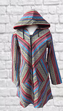 Tribal Fairtrade,Boho,Festival Pixie Natural Cotton unusual Funky Coat size12/14